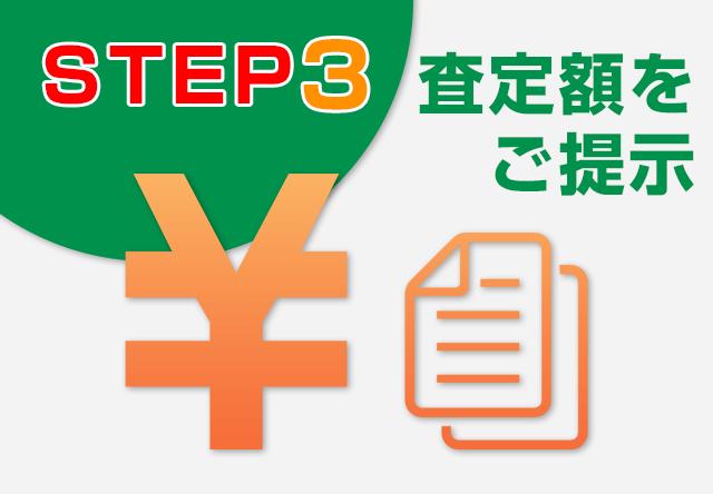 STEP3・・・査定額をご提示